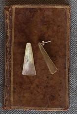HomArt Gingko Brass Earrings (Long Leaf)