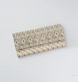 Fair Anita White Diamond Clutch Wallet