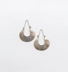Brushed Metal Hoops (Silver)