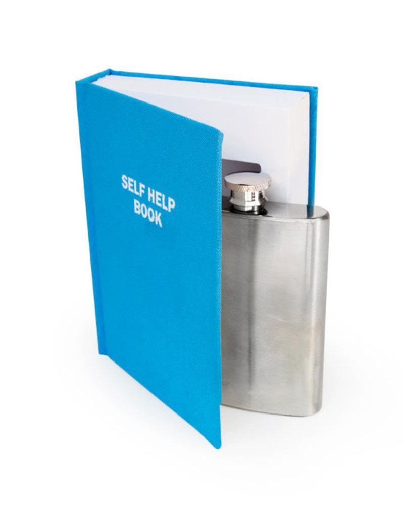 Suck UK Self Help Book Flask