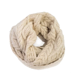 Padma Knits Cable Knit Infinity Scarf (Cream)