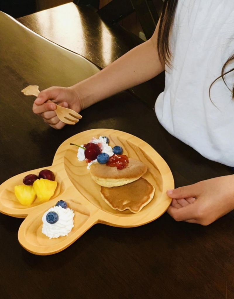 Time Concept Wood Kids Plate - Rabbit