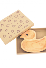 Wood Kids Plate - Duck