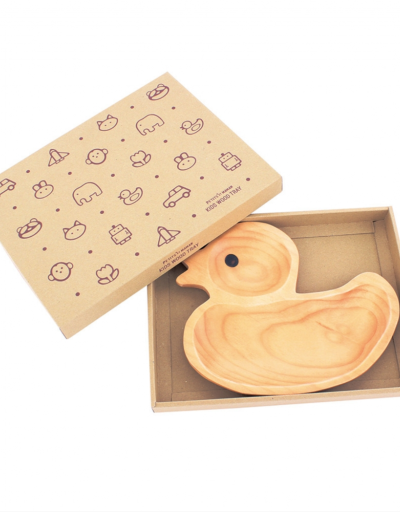 Time Concept Wood Kids Plate - Duck