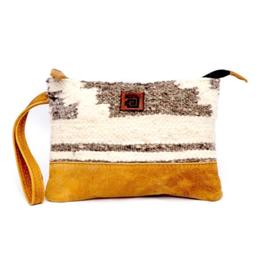 Achiote Guatemalan Goods Elementos Wool Pouch - Zaculeu