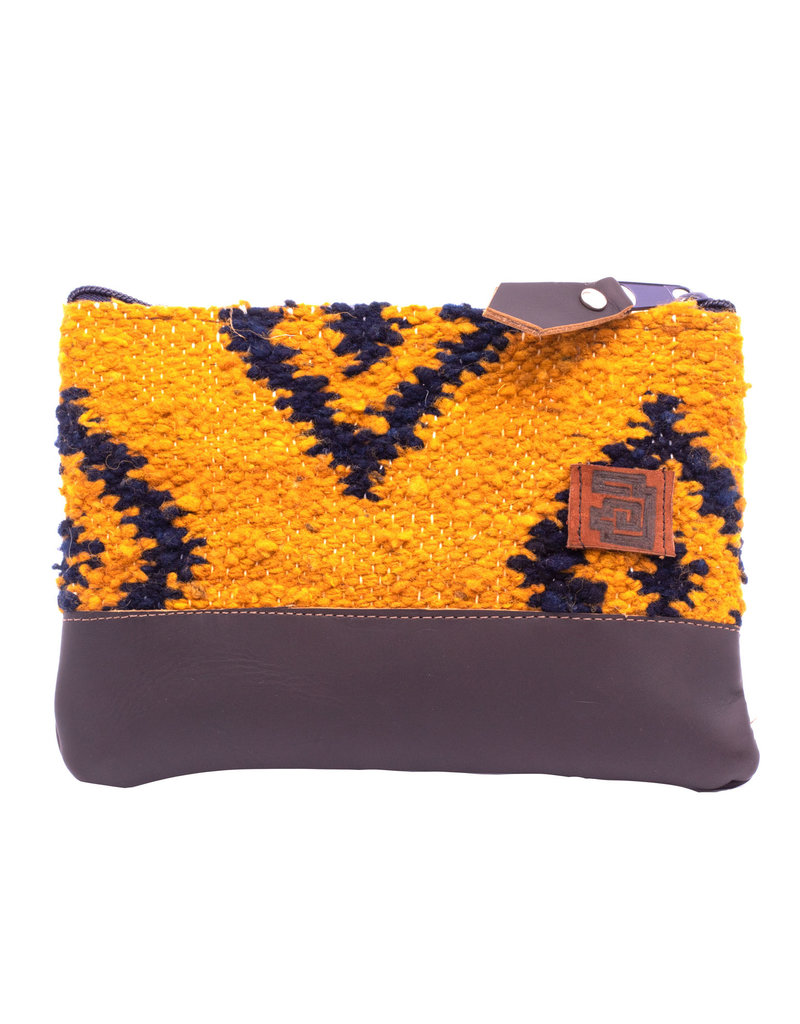 Achiote Guatemalan Goods Elementos Wool Pouch - Fuego