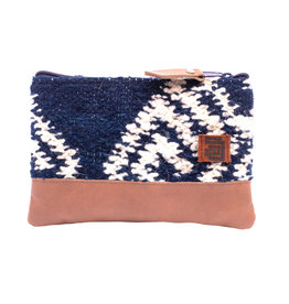 Achiote Guatemalan Goods Elementos Wool Pouch - Agua