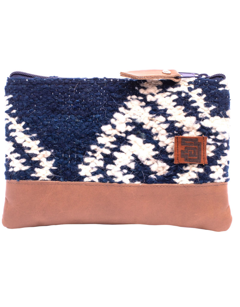 Achiote Guatemalan Goods Elementos Wool Pouch - Agua