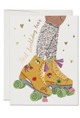 Best Birthday Ever Roller Skates Greeting Card