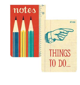 Cavallini Office Pocket Notebook (Set of 2)