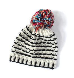 Knit Bon Bons Whip Stitch Pom Hat (Kids Size)