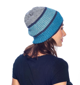 Beanie - Color Block - Aqua