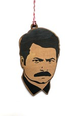 Ron Swanson Wooden Ornament