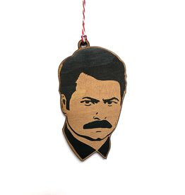 Letter Craft Ron Swanson Wooden Ornament