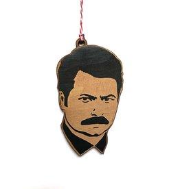 Ron Swanson Wooden Ornament