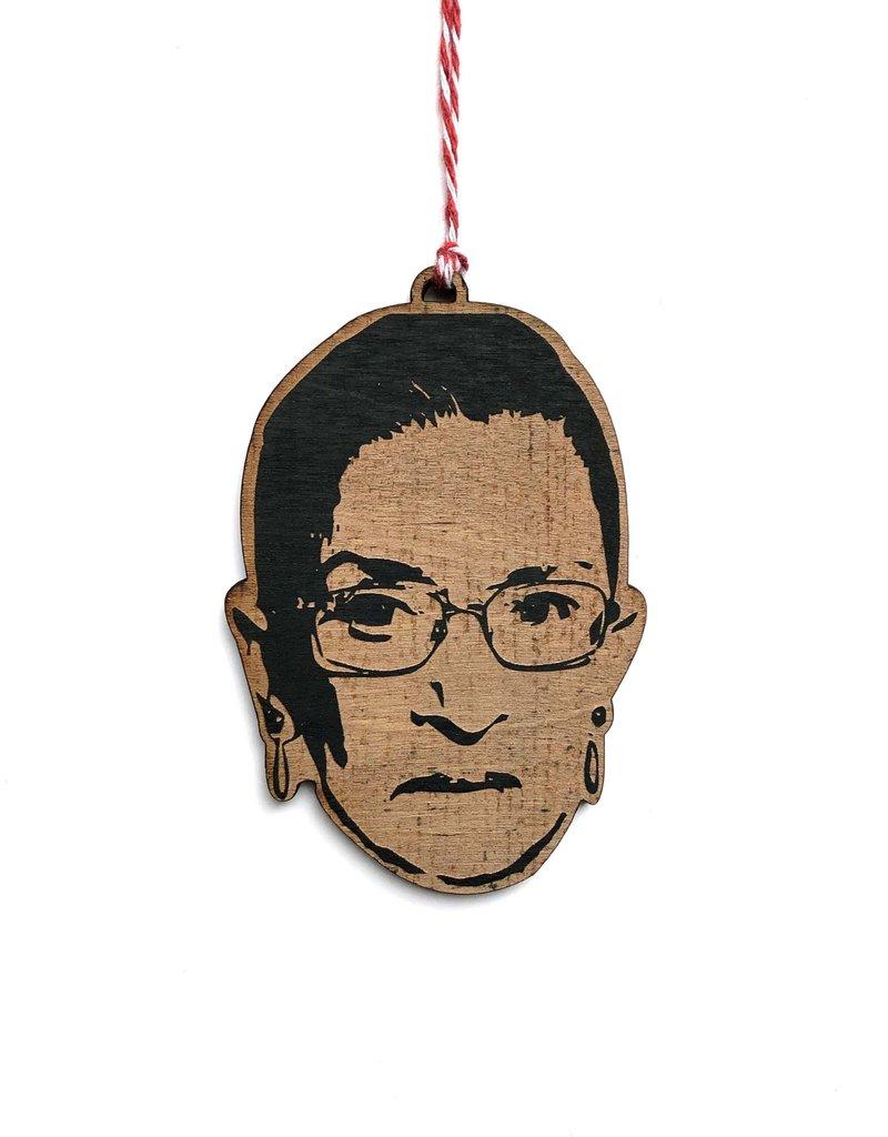 Letter Craft Ruth Bader Ginsburg RBG Wooden Ornament