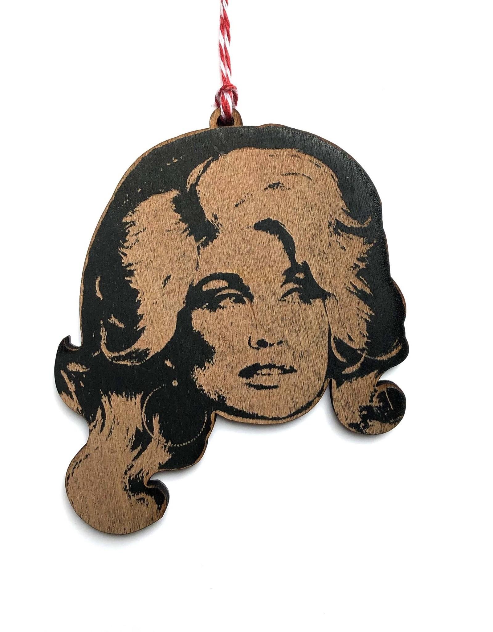 Dolly Parton Wooden Ornament