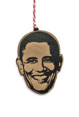 Barack Obama Wooden Ornament