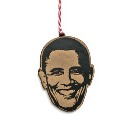 Letter Craft Barack Obama Wooden Ornament