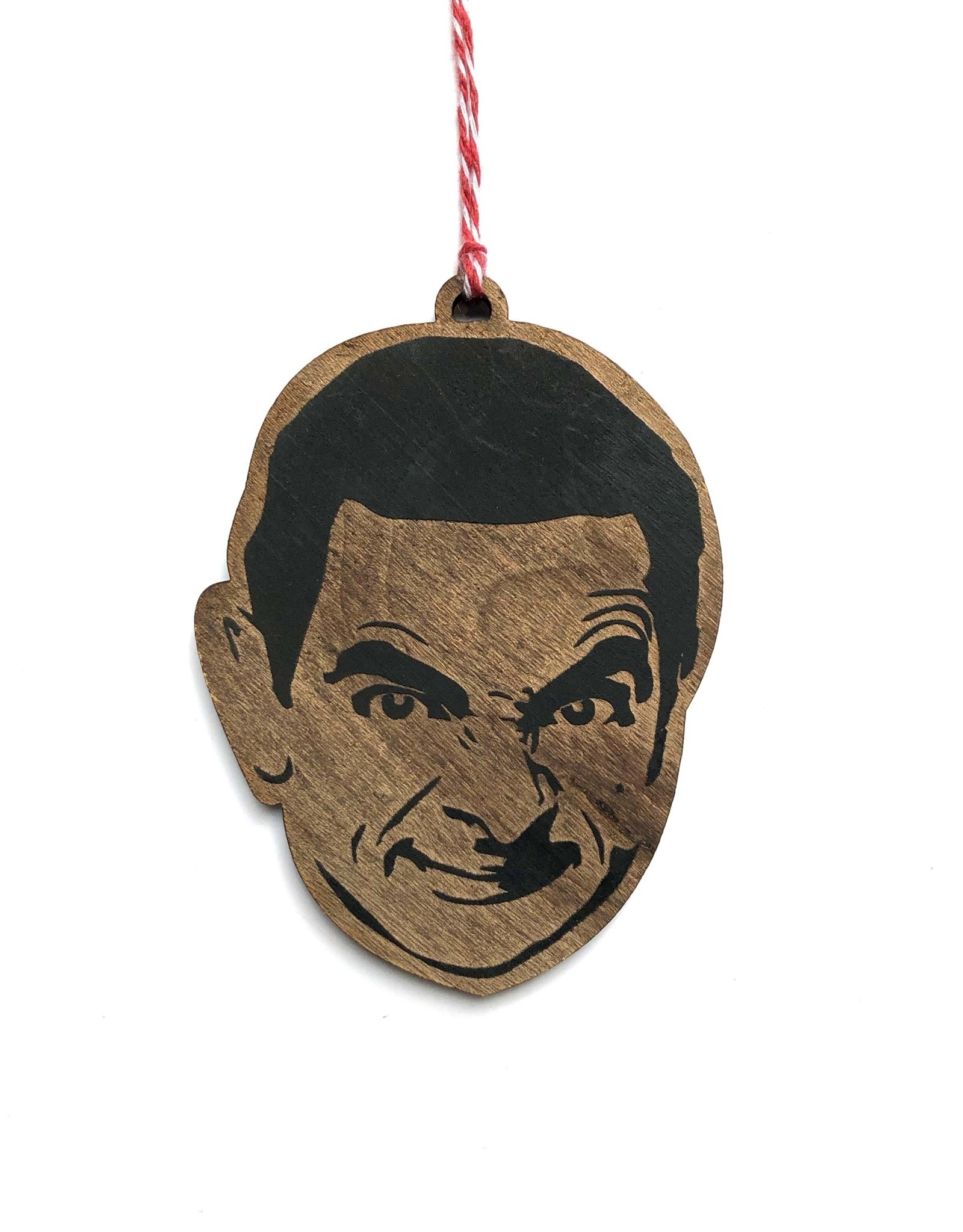 Mr. Bean Wooden Ornament
