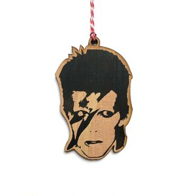 David Bowie Wooden Ornament