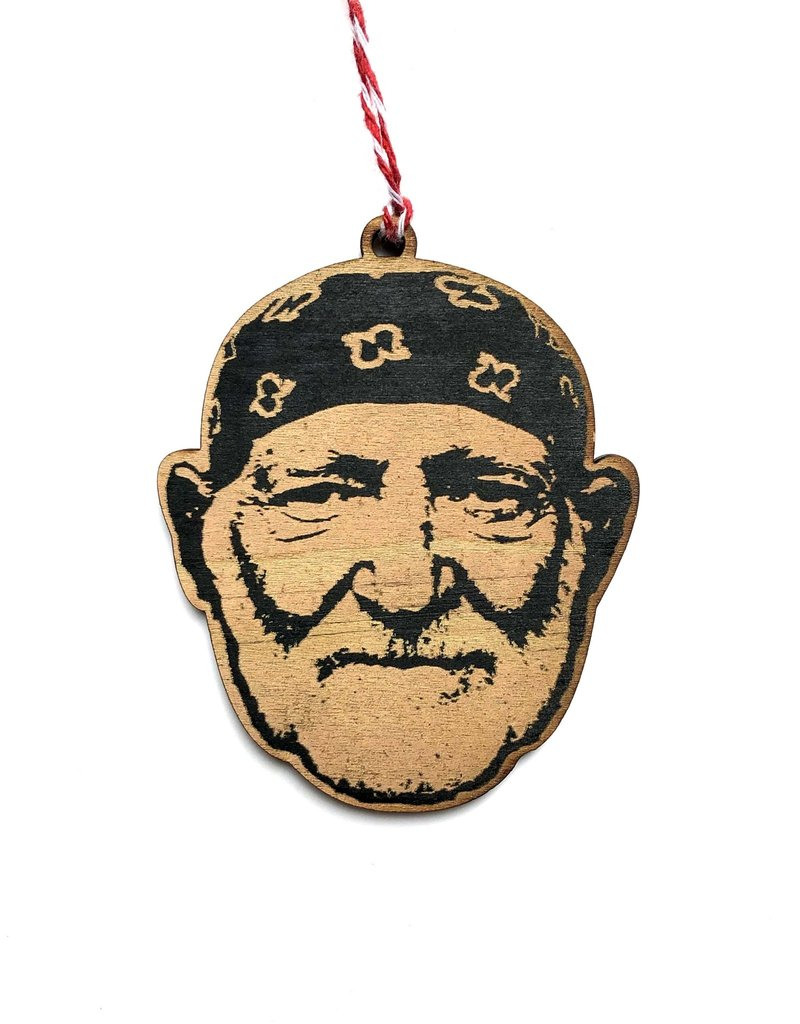 Letter Craft Willie Nelson Wooden Ornament