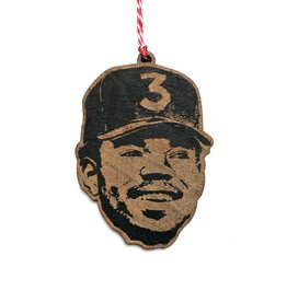 Chance the Rapper Wooden Ornament