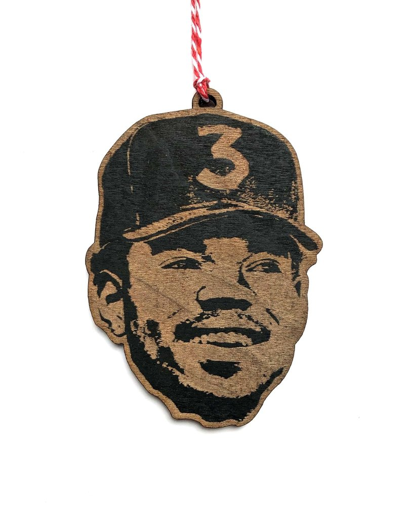 Letter Craft Chance the Rapper Wooden Ornament