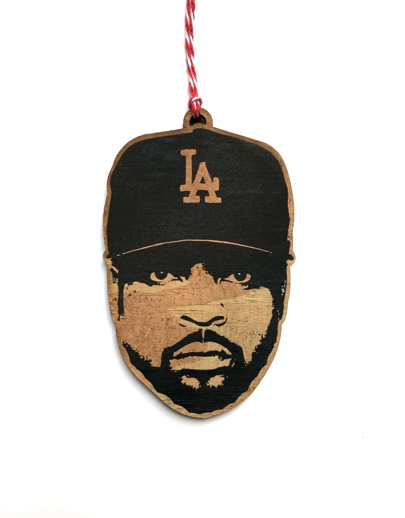 Ice Cube Wooden Ornament