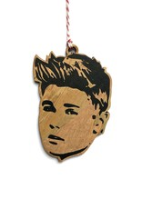 Justin Bieber Wooden Ornament