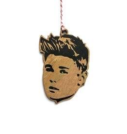 Justin Bieber Wooden Ornament