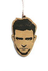 Justin Timberlake Wooden Ornament