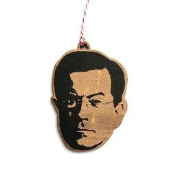 Stephen Colbert Wooden Ornament