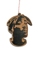 Tupac Wooden Ornament