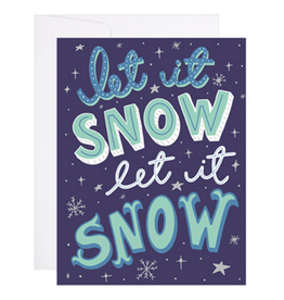 9th Letter Press Let It Snow, Let It Snow Greeting Card