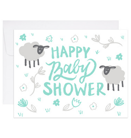 9th Letter Press Ba Ba Baby Shower Greeting Card