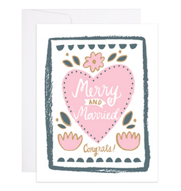 9th Letter Press Merry & Married Greeting Card