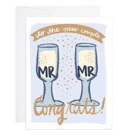 Mr. & Mr. Champagne Flutes Greeting Card