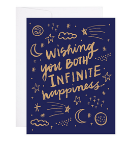 Wishing You Both Infinite Happiness Greeting Card