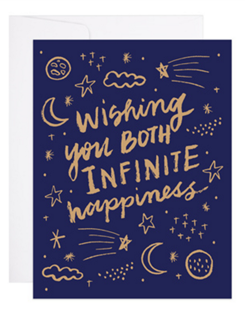9th Letter Press Wishing You Both Infinite Happiness Greeting Card