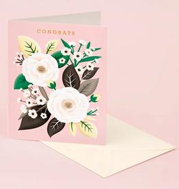 Clap Clap Designs White Rose Congrats Greeting Card