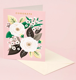 White Rose Congrats Greeting Card