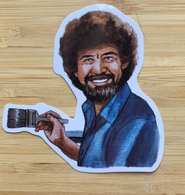 YeaOh Greetings Bob Ross Sticker