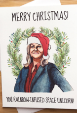 Leslie Knope Christmas Greeting Card
