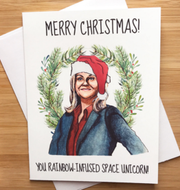 YeaOh Greetings Leslie Knope Christmas Greeting Card