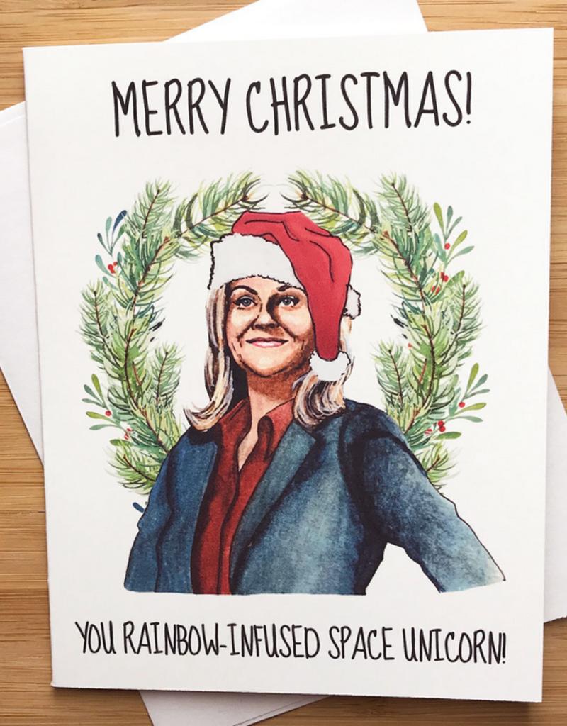 YeaOh Greetings Leslie Knope Christmas Greeting Card