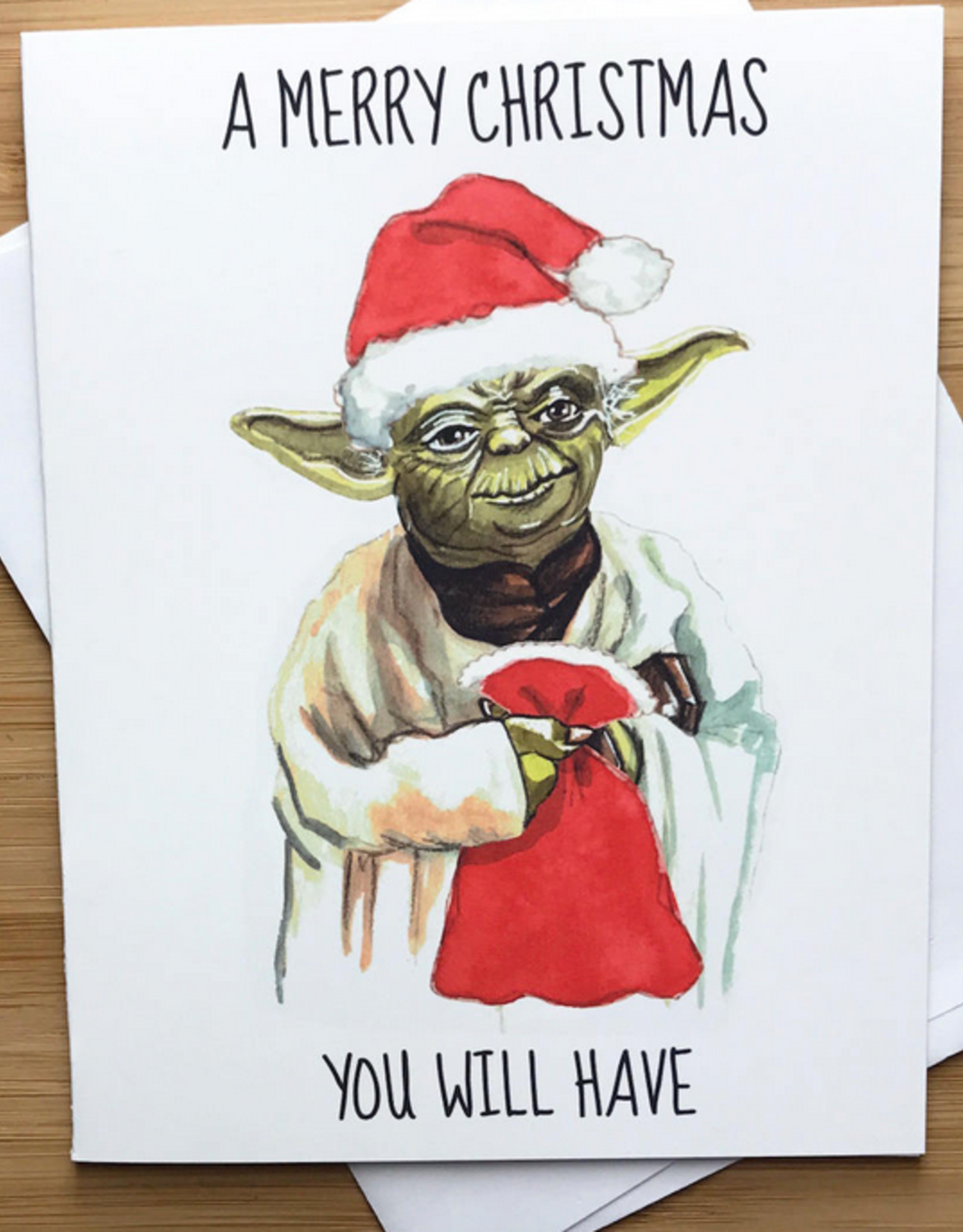 Yoda Merry Christmas You Will Have (Star Wars) Greeting Card