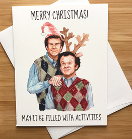 YeaOh Greetings Step Brothers Christmas Activities Greeting Card