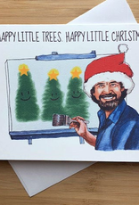 Happy Little Christmas (Bob Ross) Greeting Card