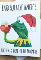 Naughty Kermit Christmas Greeting Card